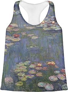 Water Lilies by Claude Monet Womens Racerback Tank Top