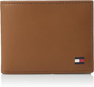 373fd32227c Tommy Hilfiger Men's Thin Sleek Casual Bifold Wallet with 6 Credit Card  Pockets and Removable Id