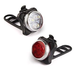 مجموعة مصابيح الدراجة القابلة لإعادة الشحن Ascher