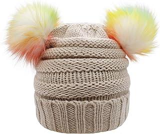 قبعة أطفال شتوية محبوكة للأطفال من ACTLATI قبعة تزلج على شكل أذن بوم ملونة للأولاد والبنات (للأعمار من 7-12)
