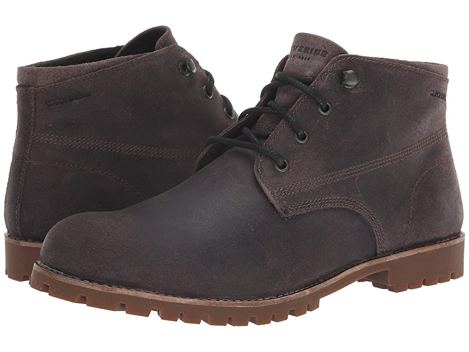 Wolverine Heritage Cort Waterproof Leather Chukka (Grey Suede) Men