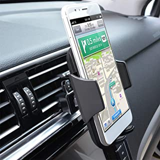 Car Cell Phone Mount,Universal Air Vent Car Phone Holder Compatible with iPhone Xs Max/XS/XR/X/8/8Plus/7/7Plus/6s/6Plus/5S,Samsung,Galaxy S6 S7 S8 S9, Google,LG,Nexus,Sony,Huawei,Nokia and More,Black