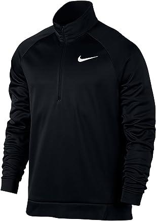 Men's Nike Therma Training Top Black White Small