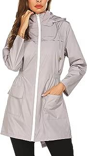 Doreyi Lightweight Raincoat for Women Waterproof Packable Hooded Outdoor Hiking Long Rain Jacket Active Rainwear