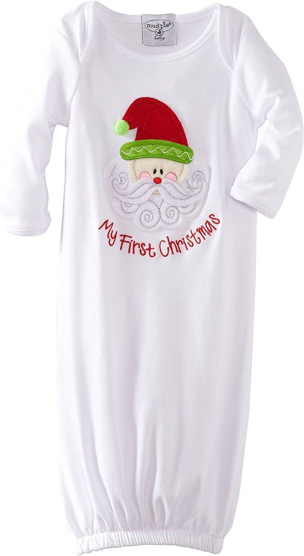 Mud Pie Unisex-Baby Newborn My First Christmas Sleeper Gown