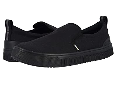TOMS TRVL LITE Slip-On (Black/Black Heritage Canvas) Men