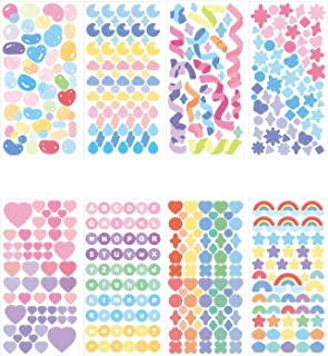 DENALY 8 Sheets Hyun-chae Letter Alphabet Sticker Self Adhesive Love Stickers for Arts Craft...