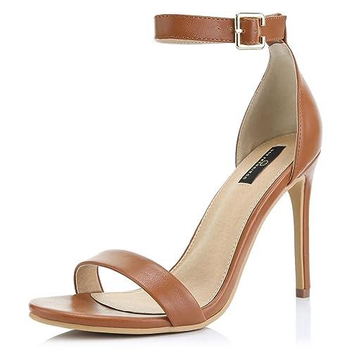 521f95f6fb09 Women s High Heel Open Toe Ankle Buckle Strap Platform Evening Dress Casual  Pump Sandal Shoes