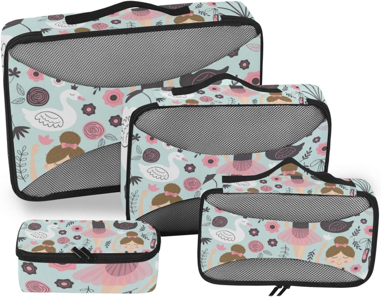 Swan Girl Packing Cubes 4-Pcs Super Direct sale of manufacturer intense SALE Organizer Stora Accessories Travel