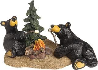 DEMDACO Campfire Memories Black Bear 4.5 x 8 Hand-cast Resin Figurine Sculpture