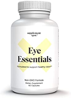Supplement Spot Eye Essentials with Vitamin A+Bilberry+Lutein - Formulated to Support Healthy Vision: Non-GMO Formula (60 ...