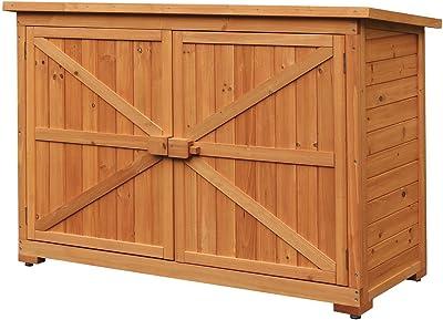 Amazon.com  LAZYMOON Wood Garden Tool Shed Outdoor Storage