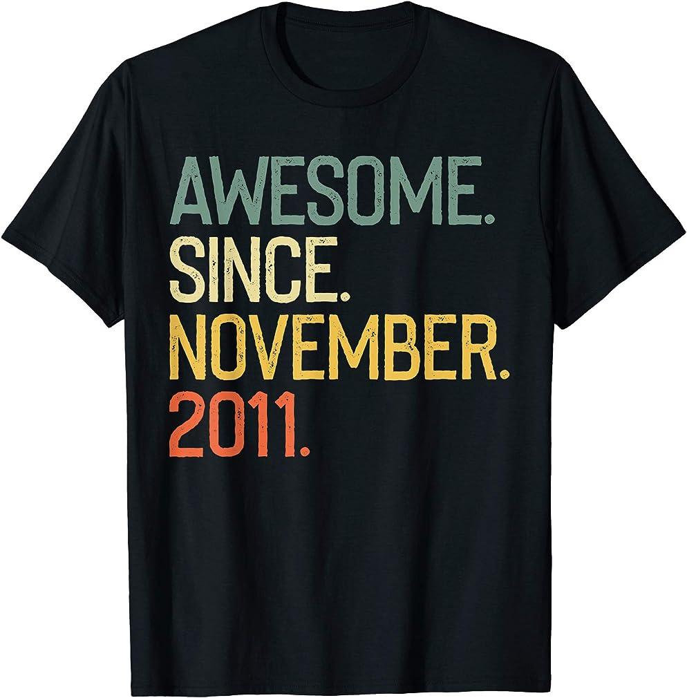 Awesome Since November 2011 T-shirt Vintage 8th Birthday T-shirt