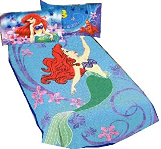 Disney Princess Ariel the Little Mermaid Blanket Micro Raschel Throw 62