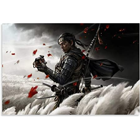 "002 Ghost of Tsushima Warrior Samurai Fight TV Game 24/""x38/"" Poster"