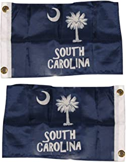 ALBATROS 12 in x 18 in South Carolina SC Palmetto 2 Faced 2-ply Wind Resistant Flag 12 in x 18 in Inch for Home and Parades, Official Party, All Weather Indoors Outdoors