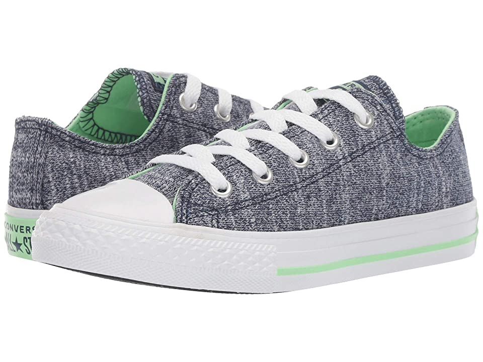 Converse Kids Chuck Taylor All Star Fade Pop Ox (Little Kid/Big Kid) (Navy/Light Aphid/Green/White) Boys Shoes