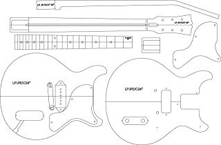 """Electric Guitar Routing Template - LP JR DC 24"""" Scale"""