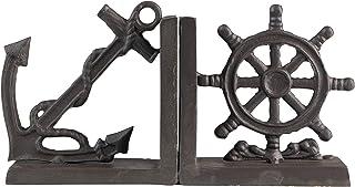 2-Pc Nautical Iron Bookend Set