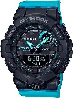 Ladies' G-Shock S-Series G-Squad Analog-Digital Neon Blue Resin Watch GMAB800SC-1A2