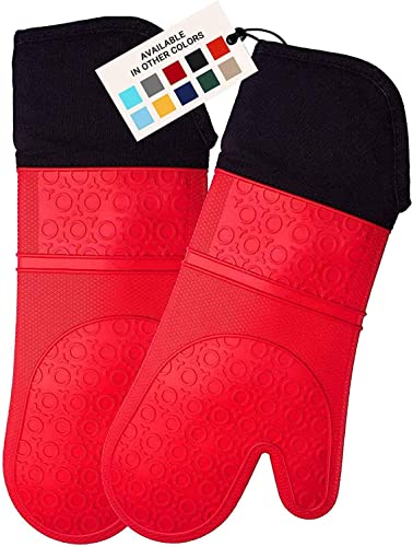 HOMWE-Extra-Long-Professional-Silicone-Oven-Mitt,-Oven-Mitts-with-Quilted-Liner