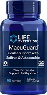 Life Extension MacuGuard Ocular Support 90 softgels with Saffron, Lutein, Astaxanthin & Zeaxanthin, - Eye Vitamin Supplement