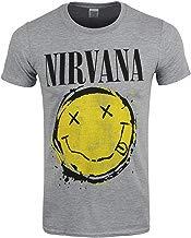 Nirvana Smiley Splat - Camiseta para hombre, color gris