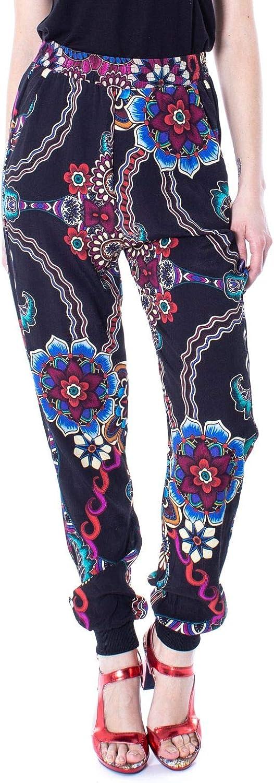 Desigual Women's 19SWPW23BLACK Black Viscose Pants