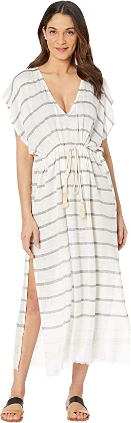 Tracey Stripe Full-Length Kaftan