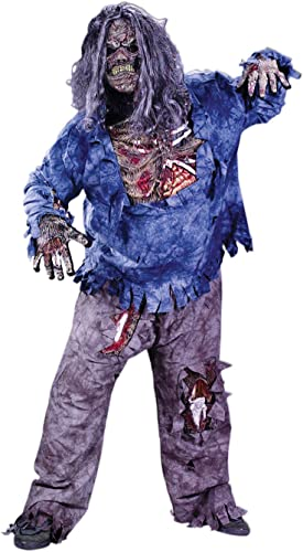 DéguiseHommest Adulte Costume Complet HalFaibleeen Homme Zombie Grande Taille