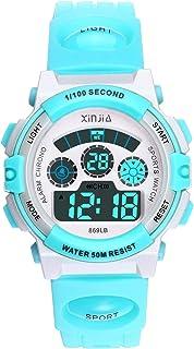 e4d37ac04 Reloj Digital para Niños Niña,Chicos Chicas 50M(5ATM) Impermeable Deportes  al Aire