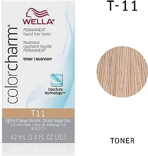 Wella Color Charm Permanent Liquid Hair Toner T-11, Royal Blonde, 1.42 Fl Oz