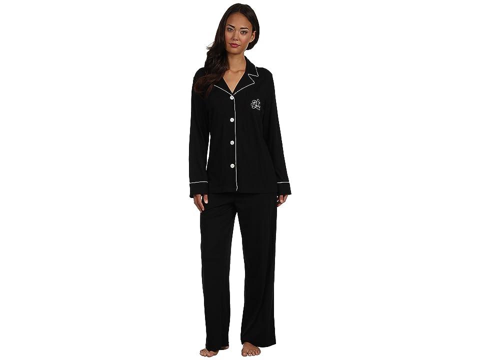LAUREN Ralph Lauren Hammond Knits Pajama Set (Black) Women