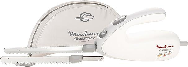 Moulinex DJAC41 Couteau Électrique Secanto Lames à Découper Tranche Viande Charcuterie Pain Surgelés 100W Blanc