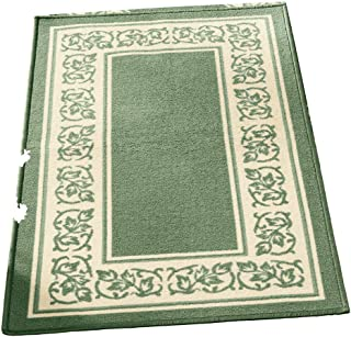 Collections Etc Floral Border Skid-Resistant Accent Rug, Sage, 26 X 45