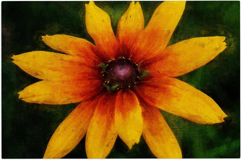 KESS InHouse Ginkelmier Wildflower in Sun Yellow Photography Decorative Door, 2' x 3' Floor Mat