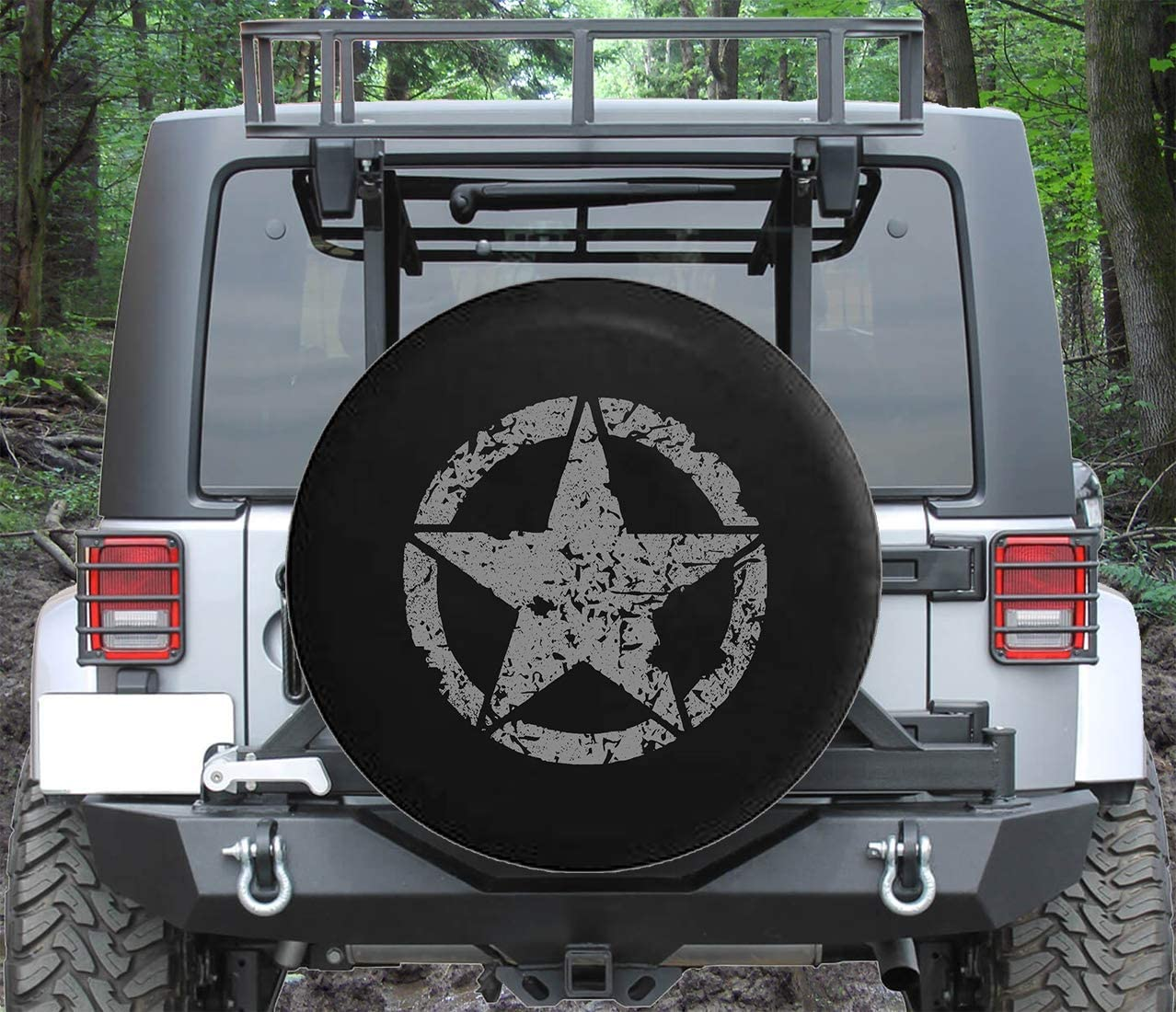 Spare Tire Cover Oscar Mike WW2 SUV Fits: Military Sale Star Vintage Limited price