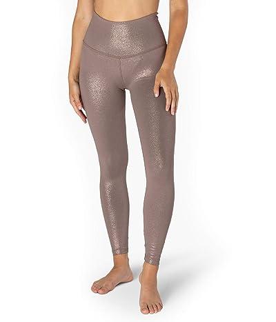 Beyond Yoga Twinkle High Waisted Midi Leggings (Mocha Brown/Rose Gold Twinkle) Women
