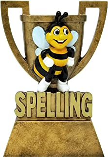 Decade Awards Spelling Bee Cup Trophy - Gold Spelling Bee Award - Academic Prize - 6 Inch Tall - Engraved Plate on Request