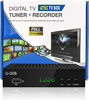 Analog-to-Digital TV Converter Box - UBISHING U-008 Set-Top Box/TV Box /ATSC Tuner, with TV Tuner, EPG, HDTV PVR Recording...