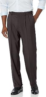Haggar mens Premium Comfort Classic Fit Pleat Front Expandable Waist Casual Pants