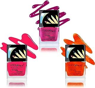 Color Fever Ultra Sparkle Nail Color, Orange/Pink/Blush, 9ml (Pack of 3)