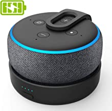 GGMM D3 Echo Dot 3rd Gen Battery Base, Amazon Echo Accessories, Power Bank for Echo Dot(Power Cord and Alexa Echo Dot 3rd Generation is Not Included)