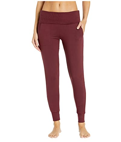 Beyond Yoga Fleece Fold-Over Sweatpants (Team Burgundy) Women
