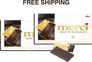 Merci Chocolate Tablets- DARK CHOCOLATE 2 x 100 g, Merci/Germany