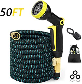 Gardlife 50ft Expandable Garden Hose, Strongest Flexible Water Hose, Extra Strength Fabric, Triple Layer Latex Core, 3/4