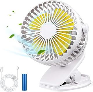 Foseal Ventilateur USB silencieux, ventilateur de bureau USB portable avec batterie rechargeable, ventilateur de refroidis...