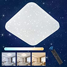 Kinderlampe Deckenlampe LED Pendelleuchte Kinderzimmer Lampe Sternen Motiv E27 Lampentyp:/Deckenleuchte Silber Lampenschirm:/Blau /Ø45.5 cm