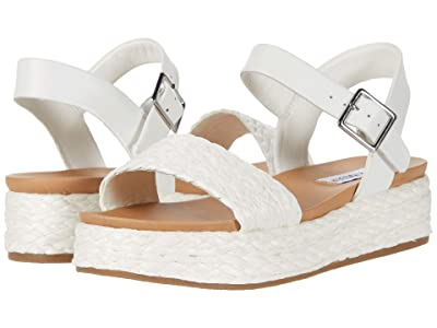 Steve Madden Accord Platform Sandals (White Raffia) Women