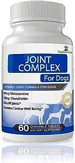 SupplementsYou - Complejo Articulaciones para Perros - 60 suplementos masticables contiene una enorme dosis de 600mg de Glucosamina y 250mg de Condroitina